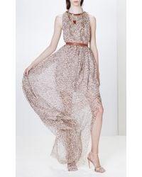 Blugirl Blumarine Multicolor Animal Print Long Dress