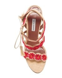 Tabitha Simmons - Red Iris Floral Strapped Sandals - Lyst