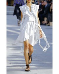 Isabel Marant - Multicolor Lief Asymmetric Wrap Dress - Lyst