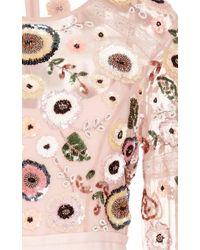 Needle & Thread Pink Woodland Lace Maxi Dress