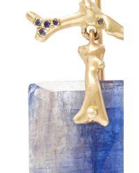 Annette Ferdinandsen - Blue One Of A Kind Sapphire Branch Earrings - Lyst