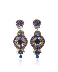 Ranjana Khan - Black Lapis Brass Earrings - Lyst