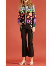 Cynthia Rowley Brown French-mex Fringe Trim Jacket