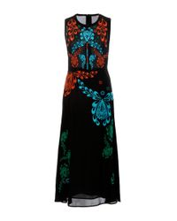 Cynthia Rowley Multicolor Sleeveless Embroidered Georgette Dress