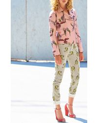 Giamba Multicolor Tiger Print Pants