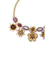 Erickson Beamon - Metallic 24k Gold-plated Vermeil Swarovski Crystal And Pearl Necklace - Lyst