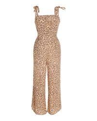 Faithfull The Brand Multicolor Elsa Leopard-print Voile Jumpsuit