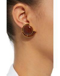 Monica Sordo - Brown Obsidian Nautilus Earfan Baby Earrings - Lyst