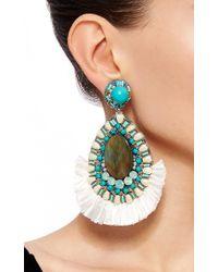 Ranjana Khan | Blue Turquoise Drop Earrings | Lyst
