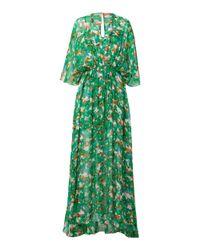 Dorothee Schumacher Green Caribbean Gardens Georgette Dress
