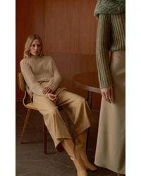 Vince Brown Wool-blend Wide-leg Culottes