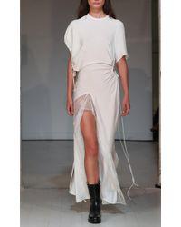 Christopher Esber - White Ruched Void Venus Dress - Lyst
