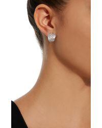 Hueb - Plisse 18k White Gold Diamond Earrings - Lyst