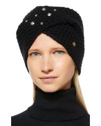 Bogner Black Faizal Embellished Cashmere Hat