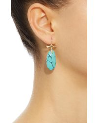Annette Ferdinandsen - Blue 18k Gold Turquoise Earrings - Lyst