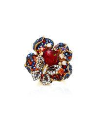 Anabela Chan - Metallic Violet Opal Bloom 18k Black And Gold Vermeil Diamond Ring - Lyst