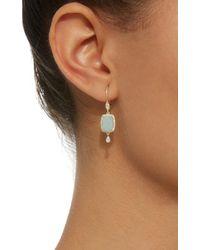 Meira T Blue Infinity 14k Gold, Amazonite And Diamond Earrings