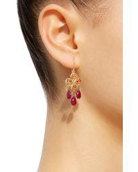 Mallary Marks - Metallic Ruby 18k Gold Multi-stone Earrings - Lyst