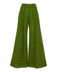 Cult Gaia Green Jordana Lace Pant