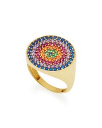 Joanna Laura Constantine - Metallic Gold-plated, Amethyst And Ruby Pinky Ring - Lyst