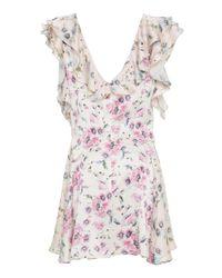 LoveShackFancy Pink Frankie Floral Mini Dress