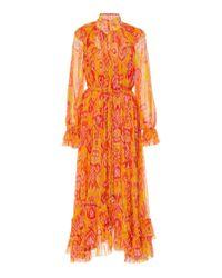 Zimmermann Yellow Brightside Frilled Midi Dress