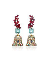 Lulu Frost - Multicolor M'o Exclusive Vintage Garnet Glass Earrings - Lyst