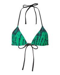 Tropic of C Green Praia Printed Bikini Top