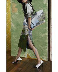 Altuzarra Green Circeo Knit Scenic Print Top