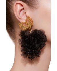 Mallarino Rosalia Black Earrings