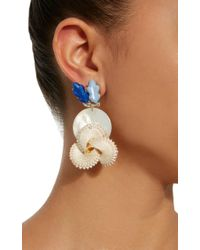 Lulu Frost - M'o Exclusive Vintage Tonal Blue, Shell And Mother Of Pearl Earrings - Lyst