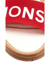 Monse Red Logo-printed Canvas Sandals