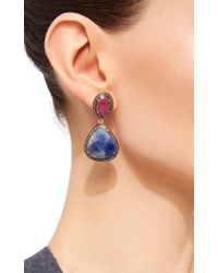 Sanjay Kasliwal - Multicolor Indorussian Sapphire And Ruby Earrings - Lyst