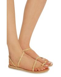 Ancient Greek Sandals - Brown Elefetheria Braided Leather Sandals - Lyst