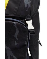 Prada Black Printed Nylon Backpack for men
