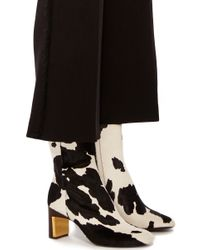 Rosetta Getty - Black Cow Print Ankle Boot - Lyst