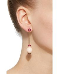 Hanut Singh - Pink Shell Coral Earrings - Lyst