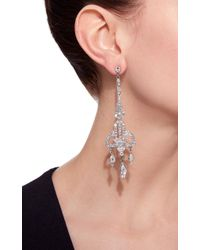 Ben-Amun - Metallic Antique Silver Crystal Deco Earring - Lyst