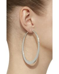 Sidney Garber - 18k White Gold Crescent Oval Hoop Earrings - Lyst