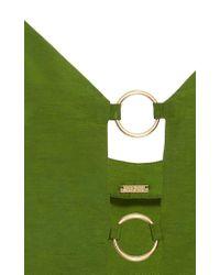 Cult Gaia Green Odette Ring Top