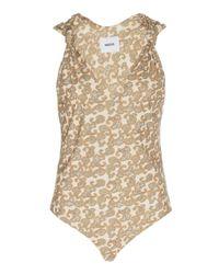 Nanushka Natural Fran Sleeveless Bodysuit