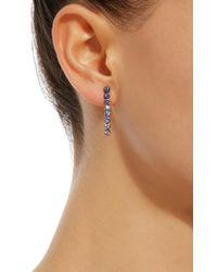 She Bee - Rhodium-plated Blue Sapphire Drop Earrings - Lyst