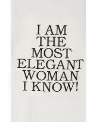 "Rossella Jardini White ""i Am The Most Elegant Woman I Know!"" Top"