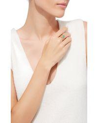 Melissa Joy Manning - Limited Edition 14k Yellow Gold Aqua, Gem Chrysocolla And Blue Chalcedony Freeform Three Stone Wrap Ring - Lyst