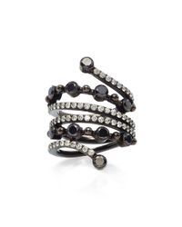 Colette Black Bezel Wrap Ring