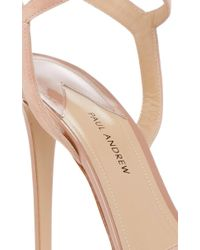 Paul Andrew Natural Laura Ankle Wrap Heels