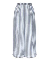 Cult Gaia Blue Sadie Button Striped Skirt