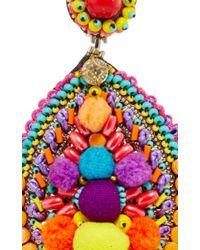 Ranjana Khan | Multicolor Embellished Drop Earrings | Lyst