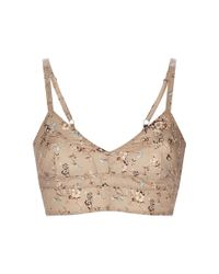 Etro | Natural Camel Floral Bra Top | Lyst