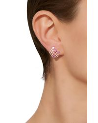 Hueb - Metallic 18k Rose Gold And Sapphire Spectrum Earrings - Lyst